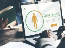 Client viewing wellness brand website