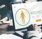 Client viewing wellness brand website