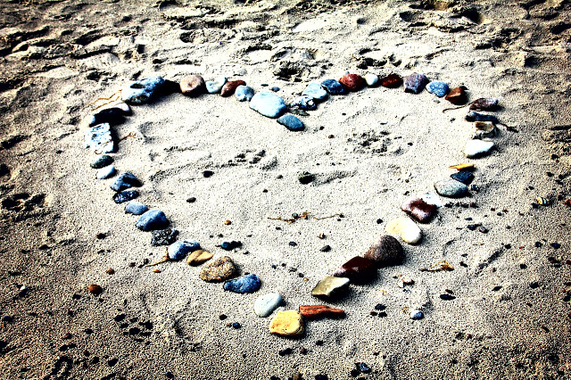 Sand heart - after