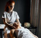 Massage therapist enjoying her work while practicing good self-care