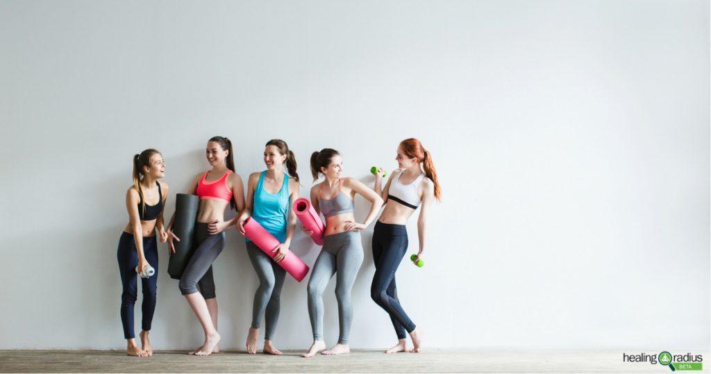women discuss how to build a better yoga class attendance
