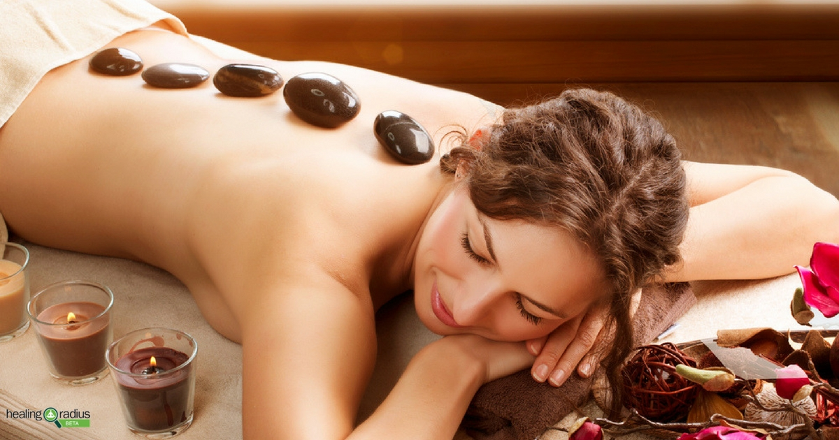 Hot and cold stone massage spa add-ons