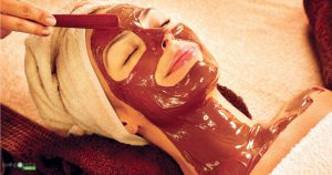 Facial mask spa add-on for integrated wellness business